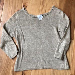 LOFT tan women's cropped sweater